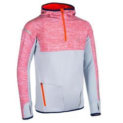 Kiprun运动儿童长袖保暖运动衫 - 橘/灰配色