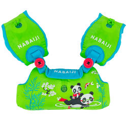 """儿童可调节臂圈腰带TISWIM - Green """"PANDAS"""" print"""