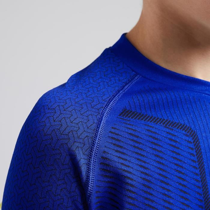 青少年长袖训练紧身衣 - 靛蓝
