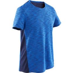 男童青少年体能T 恤 500 系列 - 蓝色