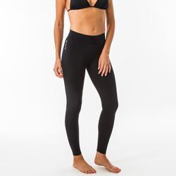 女式冲浪紧身裤UV 100L BLACK