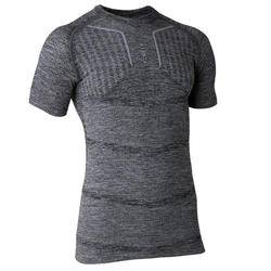 成人长袖训练紧身衣Keepdry 500 - 灰色