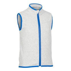 幼童体能保暖无袖夹克 500 系列 - 灰色/蓝色