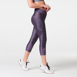 RUN DRY + FEEL 女式跑步七分裤 - 紫色