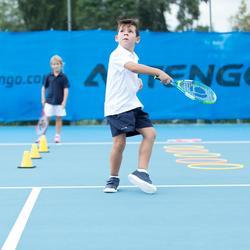 青少年网球运动短裤100系列-深蓝色