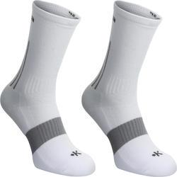篮球运动高帮中筒毛巾底青少年女士篮球袜-2双装 KIPSTA  Mid 500-2 pairs