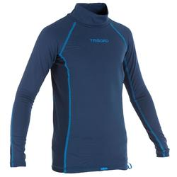 Children's Long Sleeve Thermal UV Protection Top Surfing T-Shirt - Blue