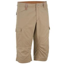 郊野徒步中裤-男士-浅棕色 | NH500
