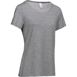 500 Women's Regular-Fit Gym T-Shirt - Mottled Grey