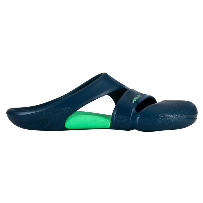 男式泳池拖鞋100 CN BLUE GREEN