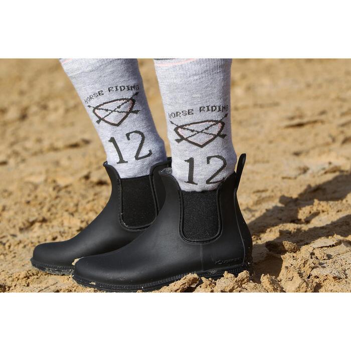 Schooling 成人/青少年骑行马靴- 黑色