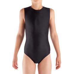 健身塑形女童无袖紧身连衣裤(WAG 和 RG)- 黑色
