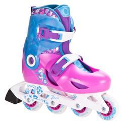 轮滑运动尺寸可调6-10岁儿童青少年轮滑鞋直排轮 OXELO Play 5 Kids' Inline Skates