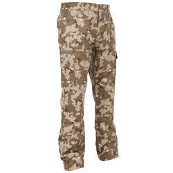 荒野探险男士长裤 SOLOGNAC Steppe 300 camouflage trousers