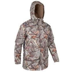 荒野探险防泼水保暖迷彩伪装男士棉服夹克外套 SOLOGNAC Posikam 100