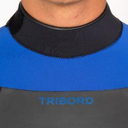 男式冲浪 4/3 毫米氯丁橡胶连体服500 - Blue