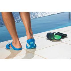 男式泳池拖鞋100 YELLOW GREY