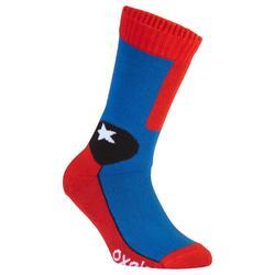 轮滑运动舒适柔软舒适易清洁儿童轮滑袜子 OXELO Play Kids' Inline Skating Socks
