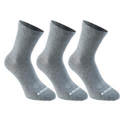 球拍类运动3双装成人高帮袜 ARTENGO RS160