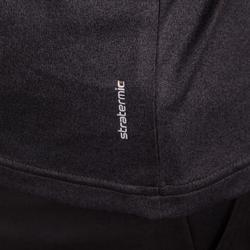 男士网球运动保暖长袖T恤- 黑色