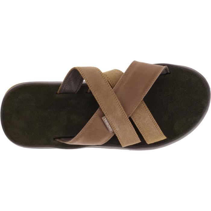男式皮质拖鞋SLAP 950 棕色
