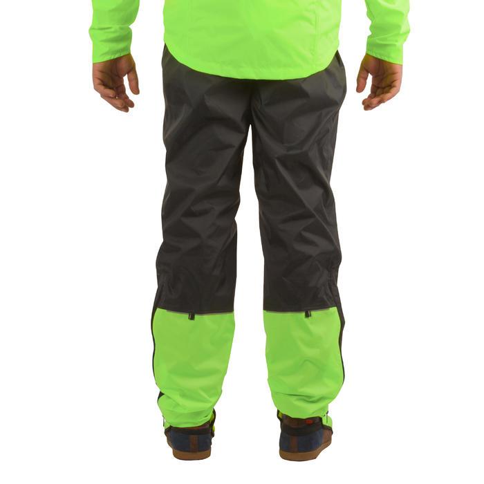 城市自行车运动骑行雨裤900- 黑色/黄色