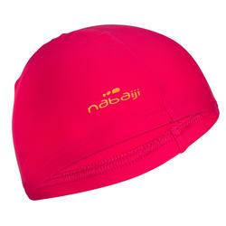 游泳运动舒适布泳帽成人儿童可用泳帽 NABAIJI mesh fabric