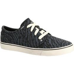 轮滑运动耐用防滑轻盈复古型男士滑板鞋帆布鞋 OXELO Vulca Canvas Adult Skateboarding Longboarding Low-rise Shoes