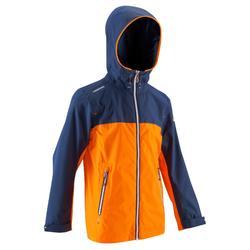 航海运动防水防风儿童防水夹克外套 TRIBORD Raincoastal 100
