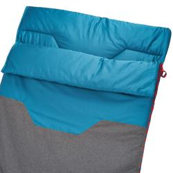 棉质露营睡袋-10°-灰色/蓝色丨Arpenaz 10° C