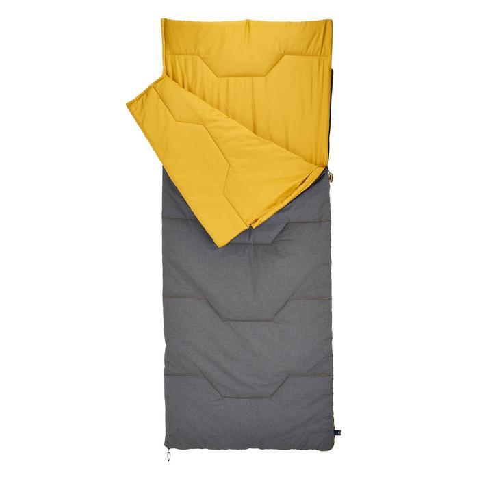 棉质露营睡袋-10°-灰色/黄色丨Arpenaz 10° C