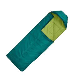露营/登山睡袋FORCLAZ 10° 右拉链 绿色