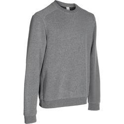 基础塑形/普拉提吸汗宽松保暖抓绒透气健身训练运动衣套头衫男式卫衣 DOMYOS Warm fitness