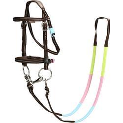 马术运动舒适实用方便小马驹马勒和缰绳套装 FOUGANZA