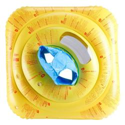 婴儿游泳座圈带视窗和把手Yellow 适合 7 到 11 公斤的婴儿.
