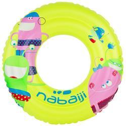 游泳运动浮力安全双层充气青少年游泳圈救生圈泳圈 NABAIJI JUNIORS RING MONSTER