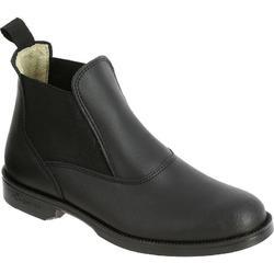 马术真皮英伦成人儿童牛皮短靴 FOUGANZA Classic