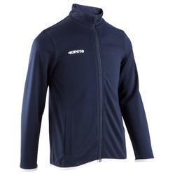 足球运动长袖拉链青少年外套运动服 KIPSTA T100