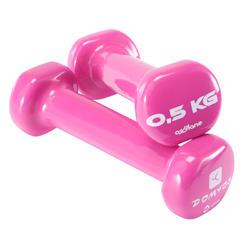 普拉提塑形锻炼附件 哑铃(一对) 0.5公斤