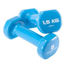 普拉提塑形锻炼附件 哑铃 (一对) - 1.5公斤