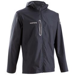 成人足球运动防水夹克500- 黑色