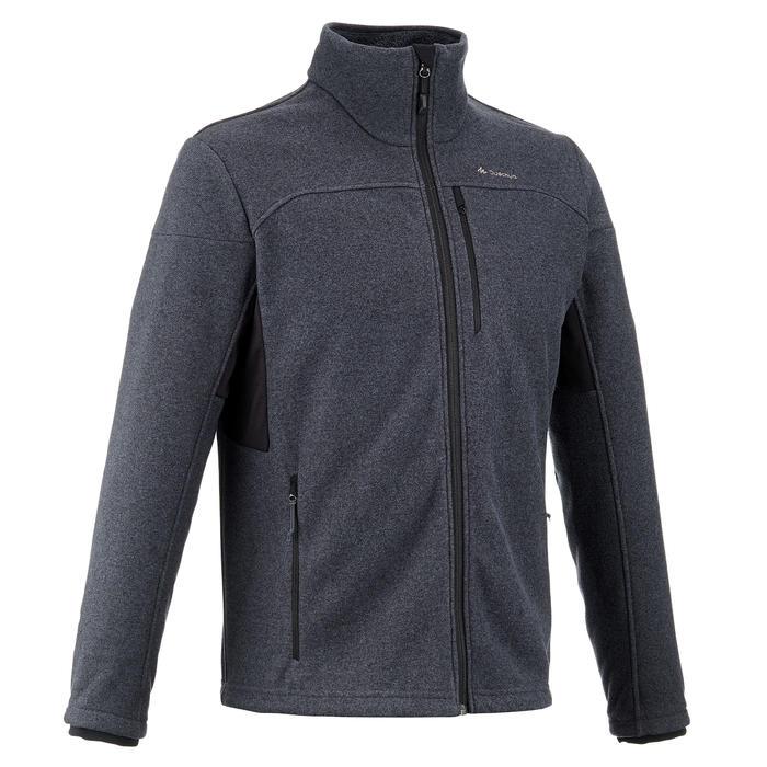 MH300 男式山地徒步摇粒绒保暖夹克 - 灰色