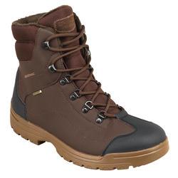 荒野探险100系列保暖登山鞋-棕色