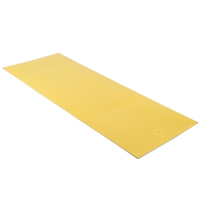 普拉提塑形耐磨地垫500,M码,7毫米 - 黄色