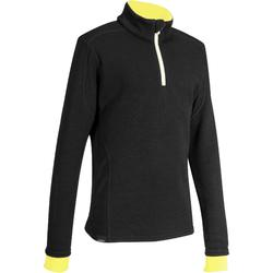 XWARM CHILDREN'S WOOL SKI BASE LAYER - BLACK YELLOW