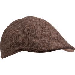 荒野探险保暖防水男士平顶帽 SOLOGNAC Flat Tweed Cap