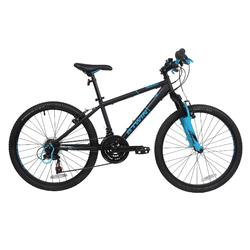 Rockrider 500 24寸儿童山地自行车 8-12岁- 黑色/蓝色