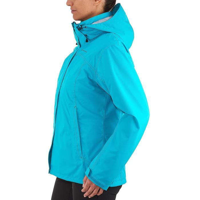 徒步旅行女式三合一夹克 RAINWARM 100 - 蓝色