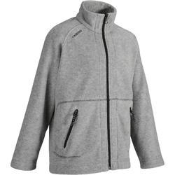 航海运动保暖防泼水耐用青少年抓绒衣 开衫外套 TRIBORD Inshoreko 100