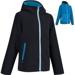 儿童摇粒绒正反两穿夹克500- Dark Blue/Blue
